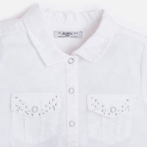 Bluzka z krótkim rękawem wiązana na dole