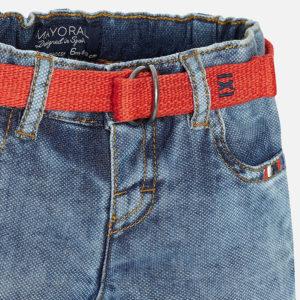 Krótkie spodenki jeansowe z paskiem