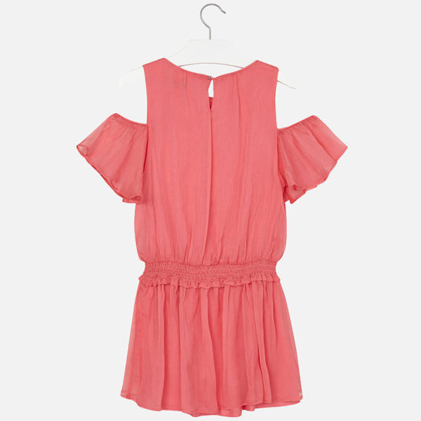 Sukienka z szyfonu z elastyczną gumką w pasie