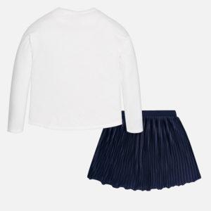 Komplet koszulka z długim rękawem i spódniczka