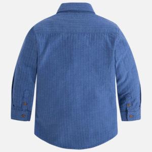 Koszula z długim rękawem z prążkowanego materiału