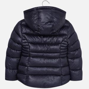 Ocieplana kurtka dla dziewczynki z kapturem w stylu szkolnym