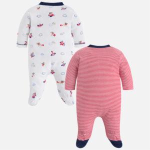 Zestaw dwóch chłopięcych piżamek z dzianiny interlockowej