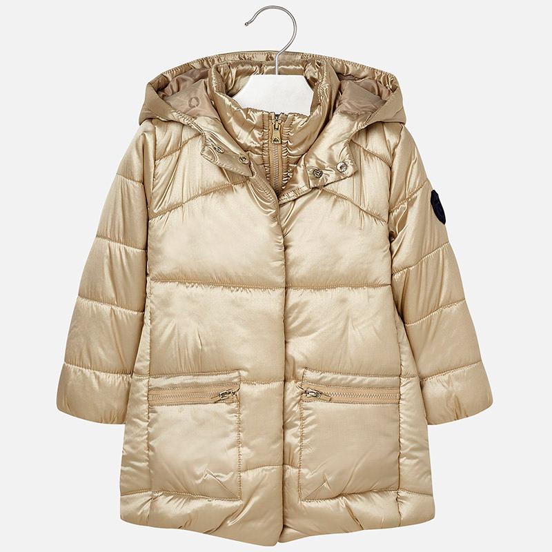 b243533301806 Mayoral Długa pikowana kurtka z kapturem dla dziewczynki · Kids ...