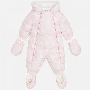 Mayoral Kombinezon z microfibry we wzory dla niemowlaka