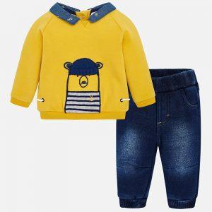 Mayoral Komplet ze spodniami jeansowymi dla chłopca