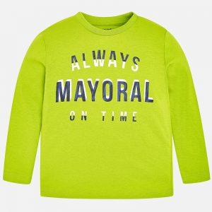 Mayoral Koszulka z długim rękawem z gładkiej dzianiny dla chłopca