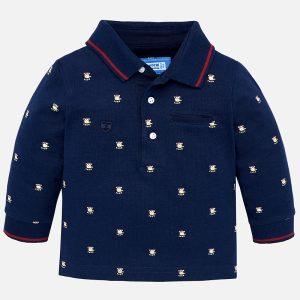Mayoral Koszulka polo we wzory z długim rękawem dla chłopca