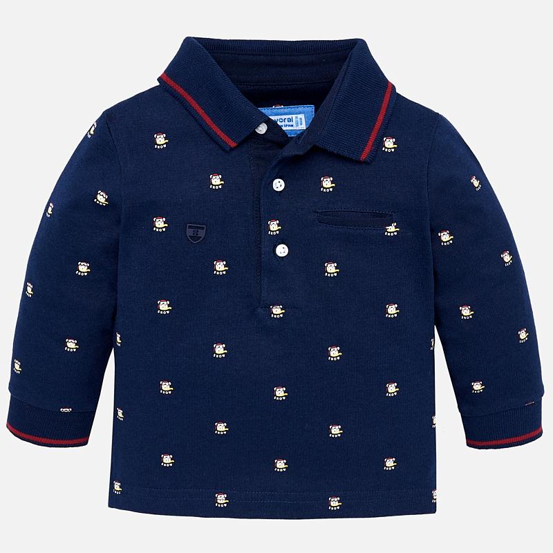 Bardzo dobra Mayoral Koszulka polo we wzory z długim rękawem dla chłopca · Kids RG11