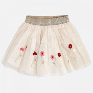 Mayoral Spódnica z tiulem haftowanym dla dziewczynki