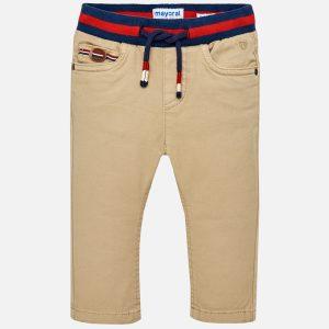 Mayoral Spodnie jogger z kontrastowym pasem dla chłopca