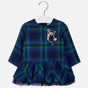 Mayoral Sukienka w kratę dla dziewczynki