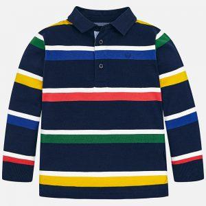 Mayoral Koszulka polo w paski z długim rękawem dla chłopca