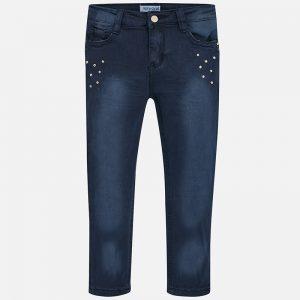 Mayoral Spodnie z serży regular fit ze strassem dla dziewczynki