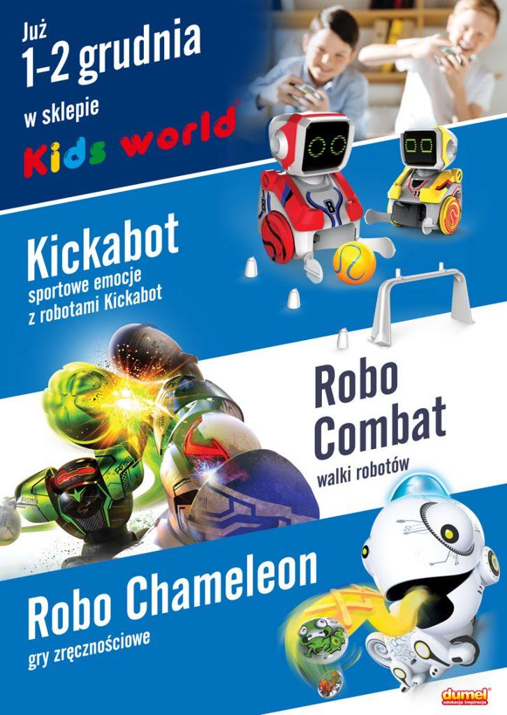 Sportowe emocje z robotami od DUMELA w Kids World