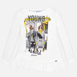 Mayoral koszulka dla dziewczynki długi rękaw