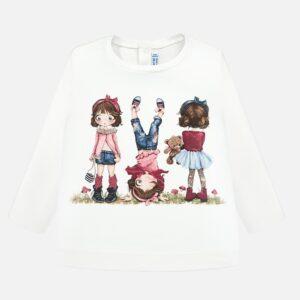 Mayoral Koszulka z długim rękawem dla dziewczynki