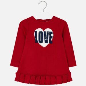 Mayoral Czerwona sukienka dla dziewczynki
