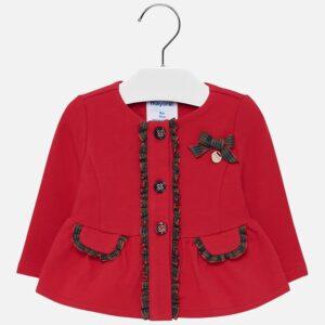 Mayoral Żakiet dla dziewczynki czerwony